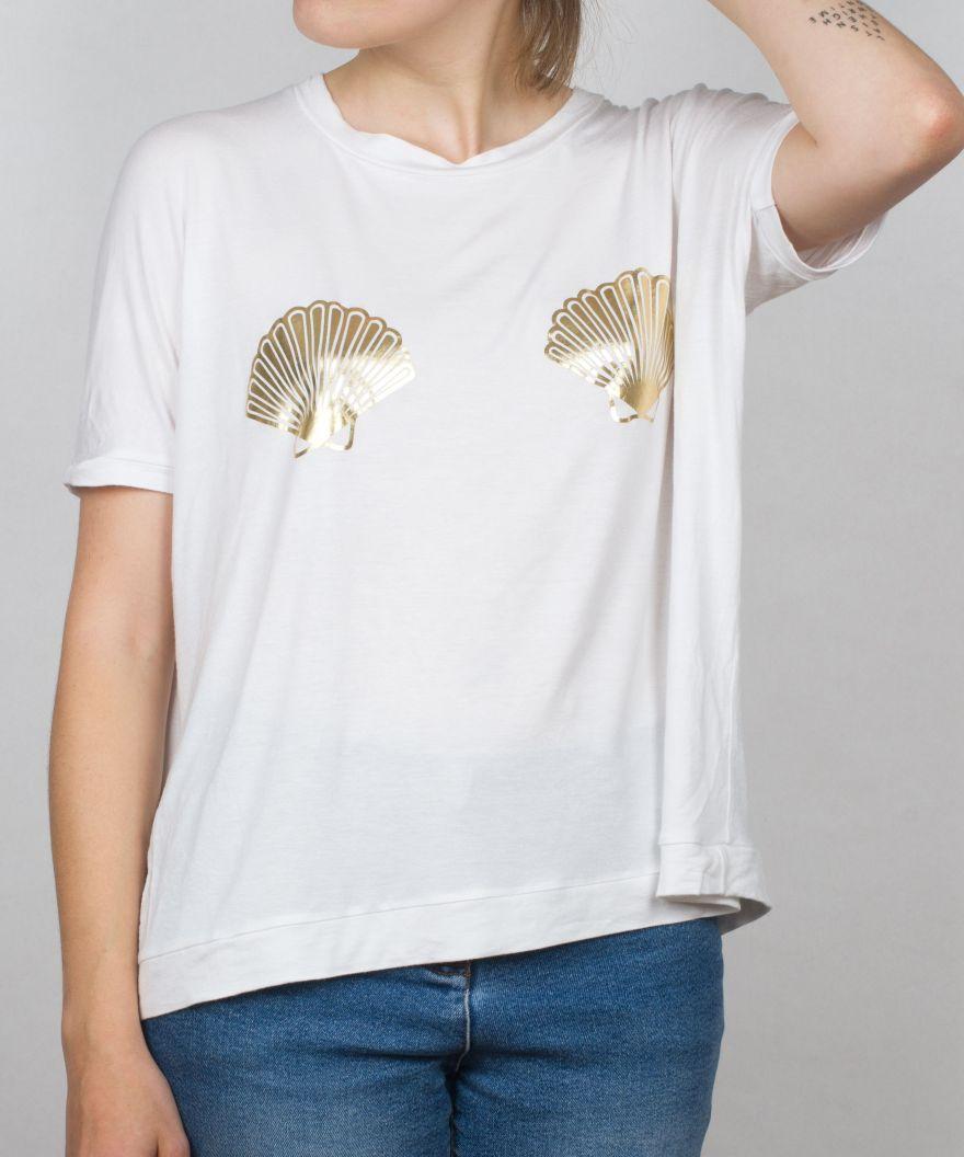 muschel shirt gold X